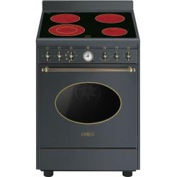 Aragaz SMEG Simfonia C6CMX8, 60X60cm, inductie, 4 zone gatire, cuptor electric, timer, aprindere electronica, inox