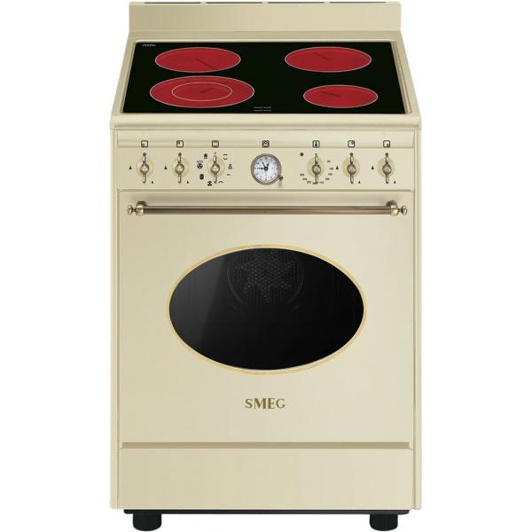 Aragaz SMEG Coloniale CO68CMA8, 60X60cm, inductie, 4 zone gatire, cuptor electric, timer, aprindere electronica, negru mat