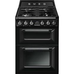 Aragaz SMEG Victoria TR62P, 60X60cm, 4 arzatoare, cuptor dublu electric, timer, aprindere electronica, crem