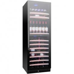 Vitrina de vinuri Nevada Concept NW138D-FG, 138 sticle, doua zone, negru