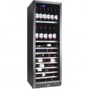 Vitrina de vinuri Nevada Concept NW150S-SL, 150 sticle, negru/inox