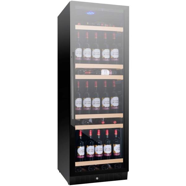 Racitor de vinuri Nevada Concept NW158S-FG, 158 sticle, negru/inox