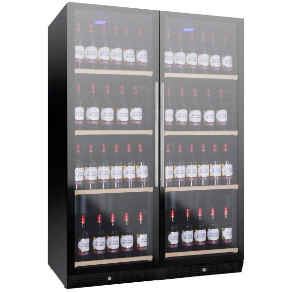 Racitor de vinuri Nevada Concept NW280D-FG, 280 sticle, doua zone, negru