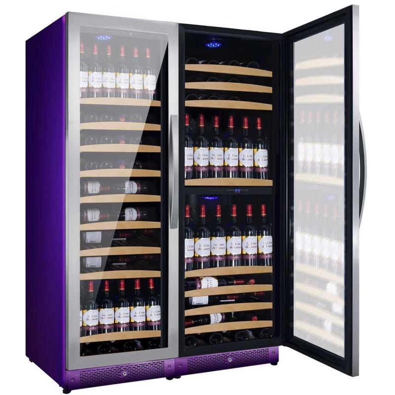 Vitrina de vinuri Nevada Color NW300T-SS-C-4001, 300 sticle, 3 zone, Violet (RAL 4001)