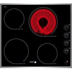 Plita vitroceramica Fagor VFI-400I, 6200W, 4 zone de gatit, 6 nivele de putere, negru