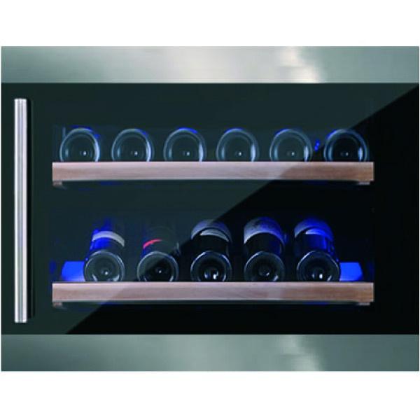 Vitrina de vinuri incorporabila Nevada Concept NW28S-FGS, 28 sticle, inox