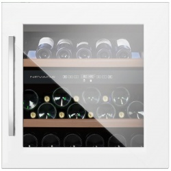Vitrina de vinuri incorporabila Nevada Concept NW40D-WFG, 40 sticle, doua zone, alb