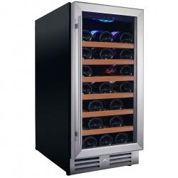 Vitrina de vinuri Nevada Concept NW33S-S, 33 sticle, Negru/inox