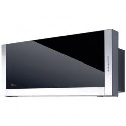 Hota design Baraldi Frame 01FRA060STB80, 60 cm, 800 m3/h, sticla neagra/inox
