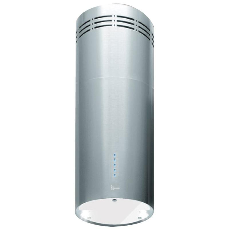 Hota design Baraldi Rodia 01ROD305ST90, 30 cm, 900 m3/h, inox/sticla alba