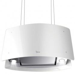 Hota design suspendata Baraldi Ideal 01IDEIS070STW80, 70 cm, 800 m3/h, sticla alba/inox