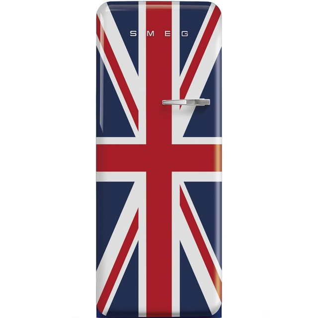 Frigider cu 1 usa SMEG FAB28RUJ1, No Frost, Clasa A++, 222L, Union Jack