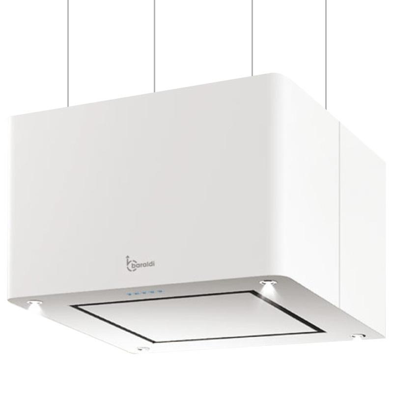 Hota design suspendata Baraldi Maxy 01MAXYS060WH70, 60 cm, 700 m3/h, alb