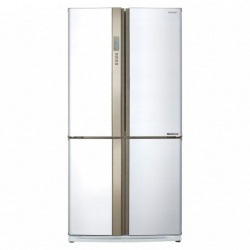 Side by side SHARP SJFP810VST, 605l, Clasa A+, Plasmacluster,Hybrid Coolinng System, inox