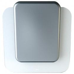 Hota decorativa de perete Sirius SLTC 103 SQUARES-WHITE+SILVER, 70 cm, 748 m3/h, sticla+ceramica, alb/argintiu
