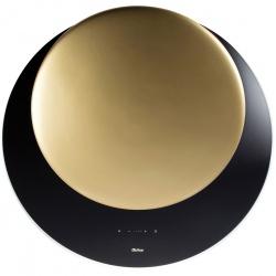 Hota decorativa de perete Sirius SLTC 94 ECLIPSE-BLACK+GOLD, 80 cm, 750 m3/h, sticla+ceramica, negru/auriu