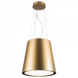 Hota insula SILT 28 LAMP, 48 cm, 550 m3/h, lumina ambientala, Auriu