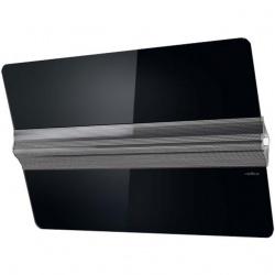 Hota decorativa Elica VertigoBL/F/90, 90 cm, 691 m3/h, sticla neagra