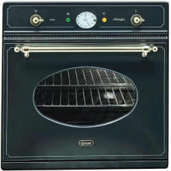 Cuptor incorporabil ILVE Nostalgie 600NMP, 60cm, 60l, grill electric, negru mat