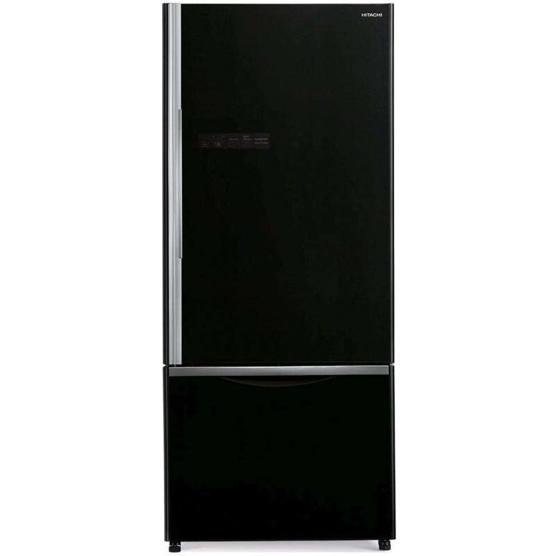 Combina frigorifica Hitachi R-B570PRU7(GBK), 444L, Clasa A+, No frost, Negru Glass