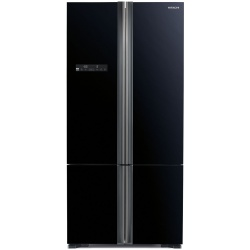Side by Side Hitachi R-WB800PRU5(GBK), Clasa A++, 700 Litri, 183 cm inaltime, Sticla neagra