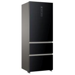Combina frigorifica Haier A3FE742CGBJ, Clasa A++, 70 cm, 313 KWh/an, 436L, No Frost, negru