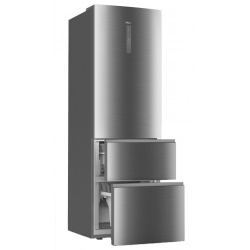 Combina frigorifica Haier A3FE735CRJ, Clasa A++, 265 KWh/an, 330L, No Frost, Rosu