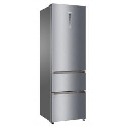 Combina frigorifica Haier A3FE735CMJ, Clasa A++, 265 KWh/an, 330L, No Frost, Inox