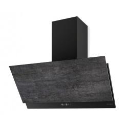 Hota decorativa Faber Grexia Gres DG/BK A60, 60 cm, 780 m3/h, negru / stivla gri inchis
