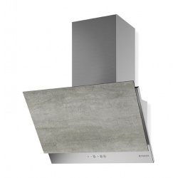 Hota decorativa Faber Grexia Gres DG/BK A60, 60 cm, 690 m3/h, negru / sticla gri inchis
