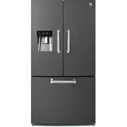Side by Side Steel Genesi GFR9F , Clasa A+, 536L, No Frost, Dispenser Apa, Twist Ice Maker, mov