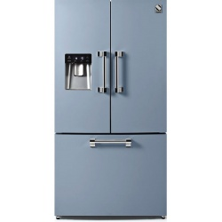Side by Side Steel Ascot AFR9F , Clasa A+, 536L, No Frost, Dispenser Apa, Twist Ice Maker, visiniu