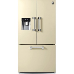 Side by Side Steel Ascot AFR9F , Clasa A+, 536L, No Frost, Dispenser Apa, Twist Ice Maker, albastru deschis
