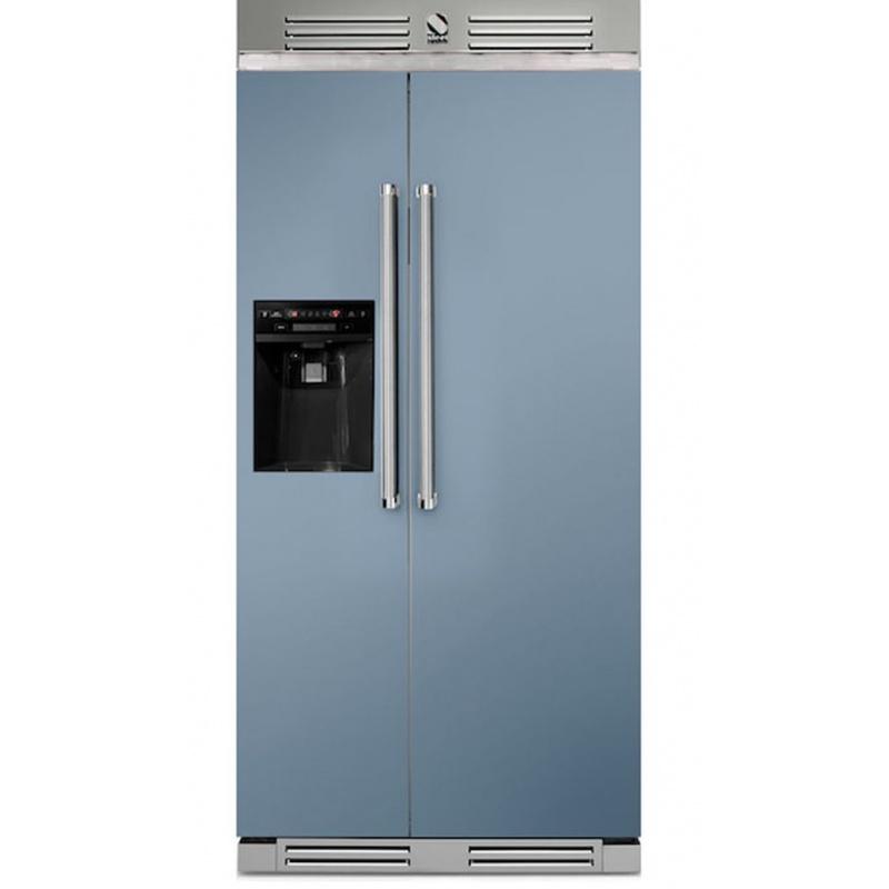 Side by Side Steel Genesi GFR9 , Clasa A+, 543L, No Frost, Dispenser Apa / Gheata, albastru deschis