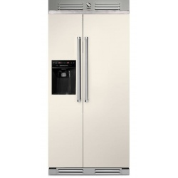 Side by Side Steel Genesi GFR9 , Clasa A+, 543L, No Frost, Dispenser Apa / Gheata, negru