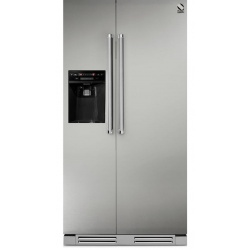 Side by Side Steel Genesi GFR9 , Clasa A+, 543L, No Frost, Dispenser Apa / Gheata, inox