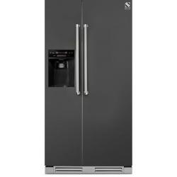 Side by Side incorporabil Steel Genesi GFRB9 , Clasa A+, 543L, No Frost, Dispenser Apa / Gheata, mov
