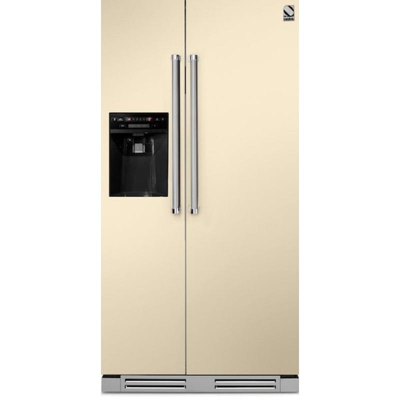 Side by Side incorporabil Steel Genesi GFRB9 , Clasa A+, 543L, No Frost, Dispenser Apa / Gheata, crem