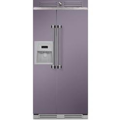 Side by Side Steel Ascot AFR9 , Clasa A+, 543L, No Frost, Dispenser Apa / Gheata, inox