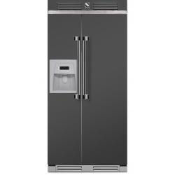 Side by Side Steel Ascot AFR9 , Clasa A+, 543L, No Frost, Dispenser Apa / Gheata, mov