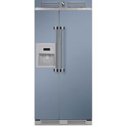 Side by Side Steel Ascot AFR9 , Clasa A+, 543L, No Frost, Dispenser Apa / Gheata, visiniu
