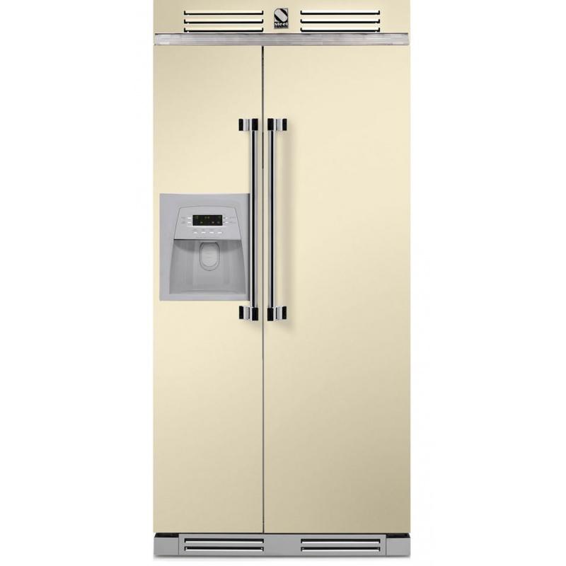 Side by Side Steel Ascot AFR9 , Clasa A+, 543L, No Frost, Dispenser Apa / Gheata, crem