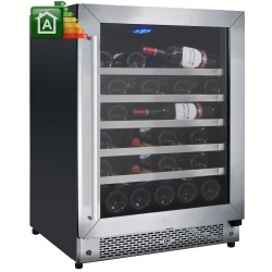 Vitrina de vinuri Nevada Concept NW46D-SL, 46 sticle, Negru/inox