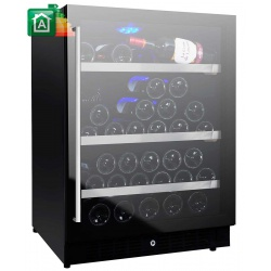 Vitrina de vinuri Nevada Concept NW59D-FG, 59 sticle, 2 zone temperatura, Negru