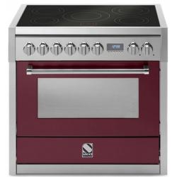 Aragaz Steel Genesi, 90X60cm, 6 arzatoare, cuptor electric multifunctional, timer, aprindere electronica, negru antracit