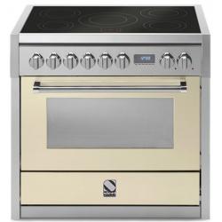 Aragaz Steel Genesi, 90X60cm, 6 arzatoare, cuptor electric multifunctional, timer, aprindere electronica, celeste