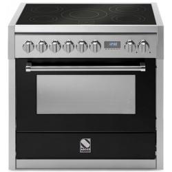 Aragaz Steel Genesi, 90X60cm, 6 arzatoare, cuptor electric multifunctional, timer, aprindere electronica, crem