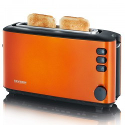 Toaster Automat Severin AT 9735,1000W,2 felii de paine,orange metalizat,negru