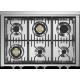Aragaz Steel Genesi G10FFF-D, 100X60cm, 6 arzatoare, 3 cuptoare, timer, aprindere electronica, usa solida, visiniu