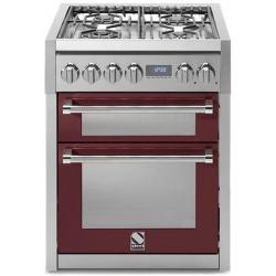 Aragaz Steel Genesi, 70X60cm, 4 arzatoare, cuptor dublu electric multifunctional, timer, aprindere electronica, negru antracit
